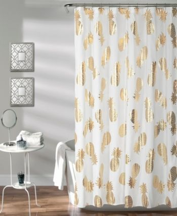 Lush Decor Pineapple Toss 72 X 72 Shower Curtain Reviews