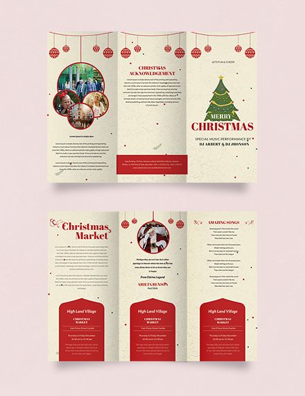 Free Retro Christmas Tri Fold Brochure Template Word Doc Psd Apple Mac Pages Publisher Trifold Brochure Template Trifold Brochure Brochure Design Template