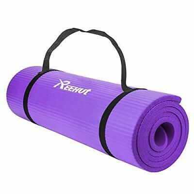 Details About Reehut 1 2 Inch Extra Thick High Density Nbr Exercise Yoga Mat For Purple Yoga Ball Yoga Fitness Yoga Mat