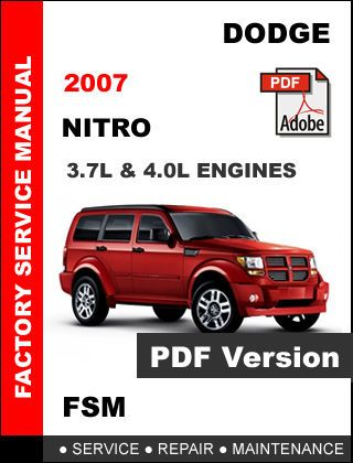 dodge nitro 2007 factory service repair workshop oem maintenance fsm rh pinterest com 2007 Dodge Nitro Service Manual 2007 Dodge Nitro Manual Transmission