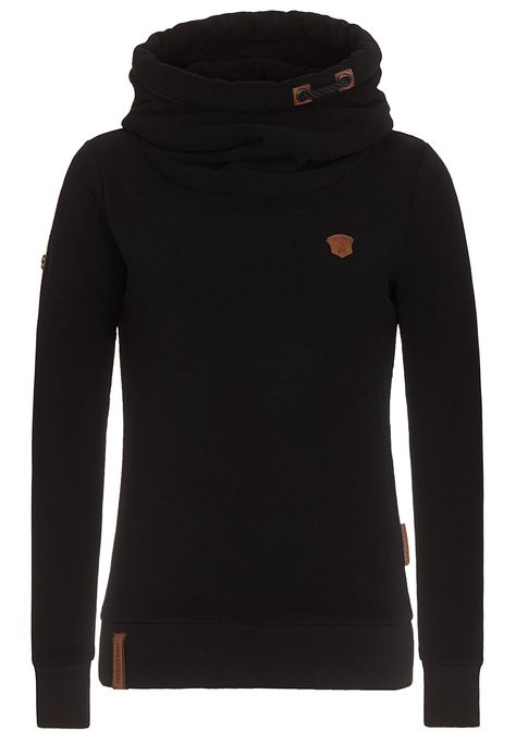 PELLKOPP SIBI BLACK Fleece hoody with high collar Naketano