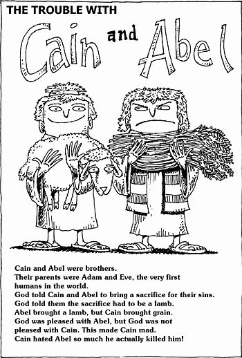Coloring Pages Of Cain And Abel