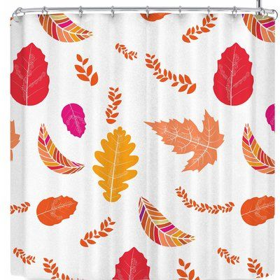 East Urban Home Famenxt Fall Autumn Leaves Shower Curtain Color