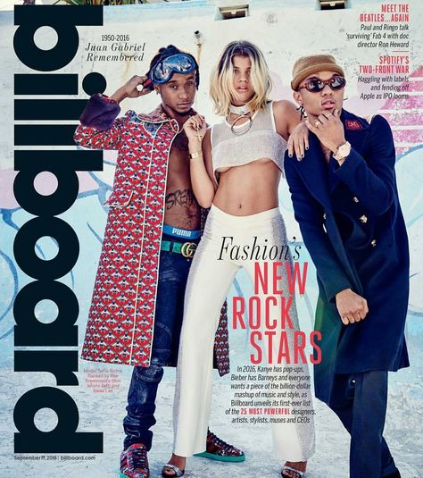 Lionel Richie's daughter/ Justin Bieber's girl #SofiaRichie covers the Sept issue of Billboard Mag alongside #RaeSremmurd.