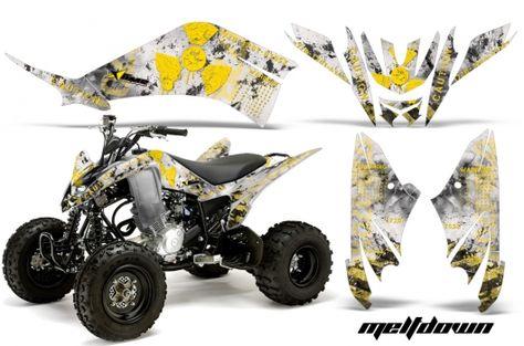 ATV Graphics Kit Quad Decal Sticker Wrap For Kawasaki KFX450R 2008-2014 CAMO BLK
