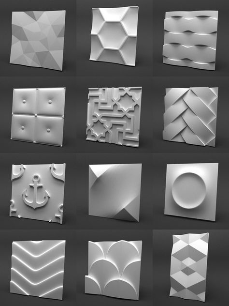 3d Gypsum Panels Collection - 3DOcean Item for Sale
