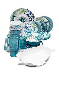 Coastal Melamine Dinnerware Collection  sc 1 st  Pinterest & After a relaxing day at the beach keep summer meals simple. These ...