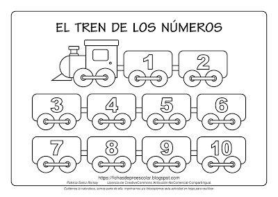 El Tren De Los Numeros Del 1 Al 10 Trenes Preescolar