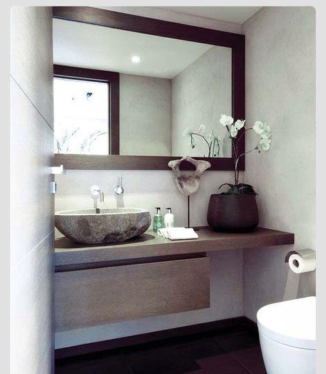 Magnifique salle d\'eau blanc & bois | Idée salle de bain ...
