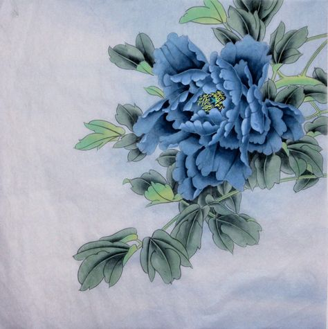 100% Hand-painted, Peony flower painting,Chinese Gongbi painting, ink wash painting,original watercolour painting, Chinese painting #art #painting #pink #housewarming