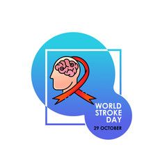 World Stroke Day Vector Logo Poster Illustration Of World Stroke Day On October 29th Health Care Awaren World Stroke Day Vector Logo Graphic Design Software