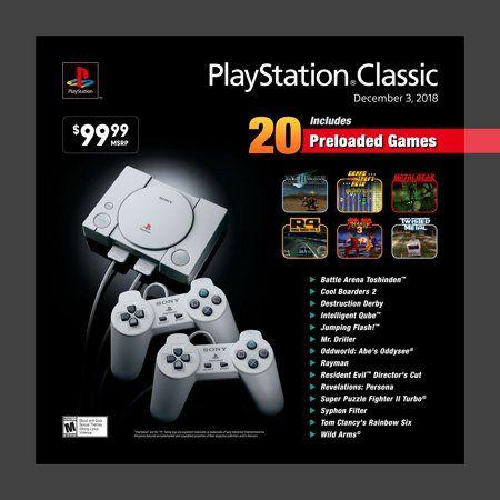Sony Playstation Classic Console Gray 3003868 Walmart Com Playstation Sony Playstation Playstation Consoles