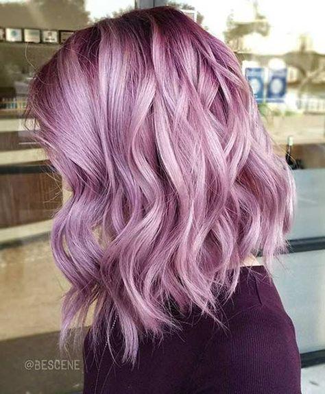 21 Pastel Hair Color Ideas For 2018 Light Purple