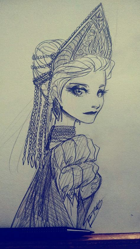 Snowqueen Elsa…I like to think that this is Elizabeth Pitchiner