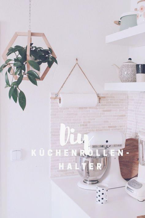 In 10 Minuten   DIY Küchenrollenhalter selber machen #basteln #deko #diy #holz #selbermachenwohnideen #wohnideen