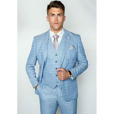 Sponsored Ebay Vintage Light Blue Check Men Wedding Suit Jacket