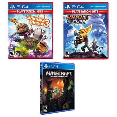 Ratchet And Clank And Little Big Planet Greatest Hits With Minecraft Game Walmart Com Little Big Planet Hit Games Minecraft Games