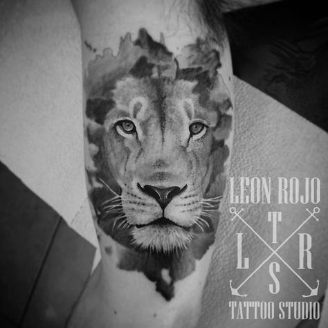 tatuaje León / Lion tattoo (león rojo...