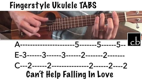 Can T Help Falling In Love Fingerstyle Ukulele Tutorial With Tabs