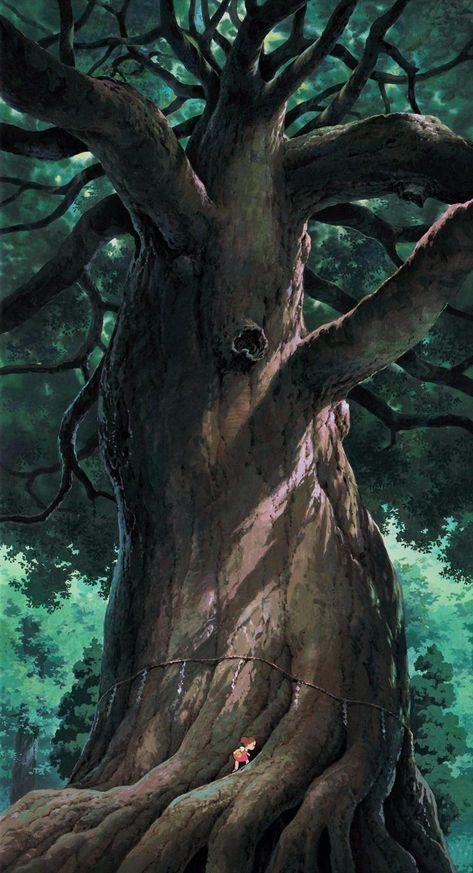 Artwork by Kazuo Oga / Hayao Miyazaki
