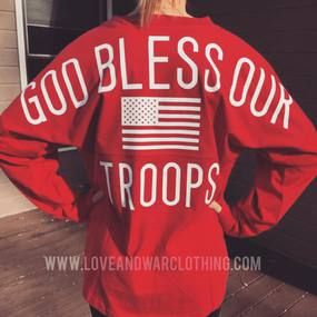 God bless our troops Varsity Crew