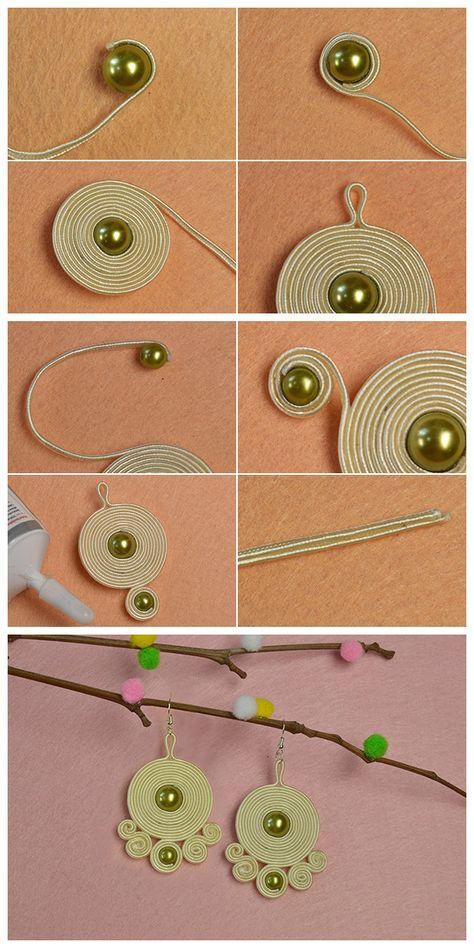 Lerne von h - Diy Schmuck - Fabric Jewelry, Wire Jewelry, Jewelry Crafts, Jewelery, Jewellery Box, Jewellery Making, Jewelry Ideas, Wooden Jewelry, Jewelry Holder