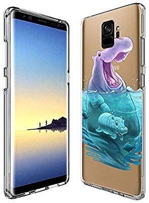innovative design 278ef 70442 Amazon.com: Cute Hippo Samsung Galaxy S9 Case, Suowen Waterproof ...