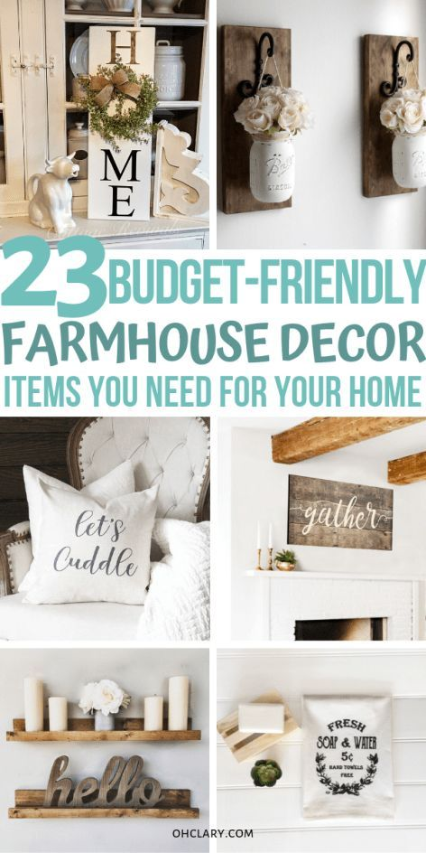 23 Cheap Farmhouse Decor Items - Where To Buy Farmhouse Decor On a Budget Online