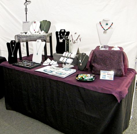 A very very beautiful way to set up your craft show display.  Very organized in every way.