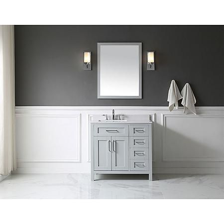 Ove Decors Tahoe 36 In Bathroom Vanity With Mirror Dove Grey Sam S Club Bathroom Vanity Single Bathroom Vanity Simple Bathroom Renovation