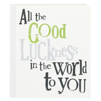 Good luck verses for cards