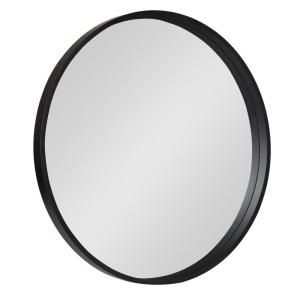 Kate And Laurel Travis Round Black Wall Mirror 213122 The Home Depot In 2020 Black Wall Mirror Mirror Wall Modern Mirror Wall