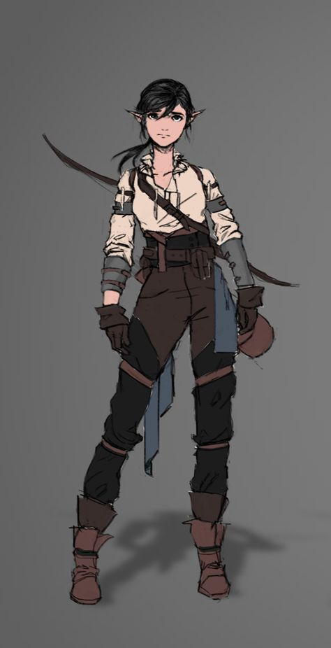 ArtStation - Young Vex'ahlia🐻, Kurtis 💎 Knight Half-Elf NPC in my game Fantasy Character Design, Character Creation, Character Drawing, Character Design Inspiration, Character Concept, Concept Art, Character Ideas, Game Character, Dungeons And Dragons Characters