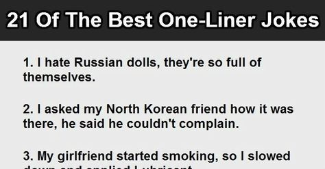 Insults One Liners Funniest Insults Jokes OneLineFun - 21 best one line jokes ever