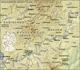 Karte Der Westerwald Karten