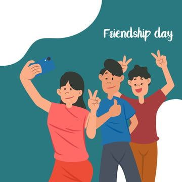 Element Of Friends Selfie For Friendship Day Greeting Flat Cartoon Design Selfie Clipart Friends Friendship Png And Vector With Transparent Background For Fr Cartoon People Friendship Day Greetings Girl Cartoon