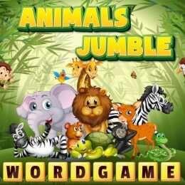 لعبة خليط الحيوانات Animals Jumble Word Puzzle Games Animal Puzzles Animals