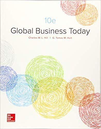 Global Business Today 10th Edition By Charles W L Hill V 2020 G