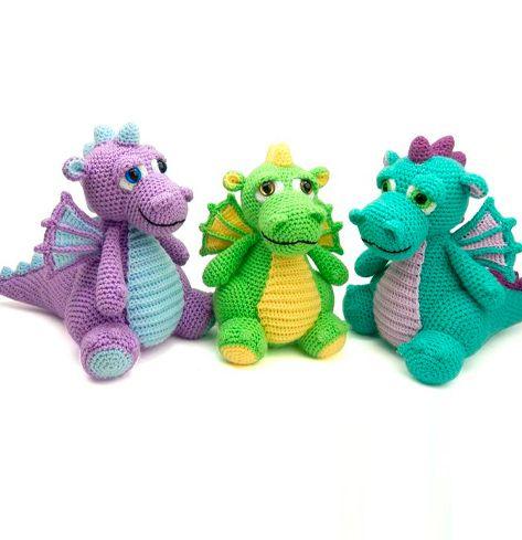 Vincent the Dragon | Crochet dragon, Crochet dragon pattern ... | 489x473