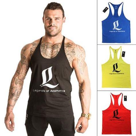 49d8dff5cca96 Singlet Bodybuilding Fitness Men Racerback Tank Tops LOA Sleeveless Male Clothing  Vest Muscle Shirt Masculina Gimnasio