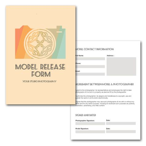 Photographers Print Release Form Digital by KalaRathPhotography - photographer release form