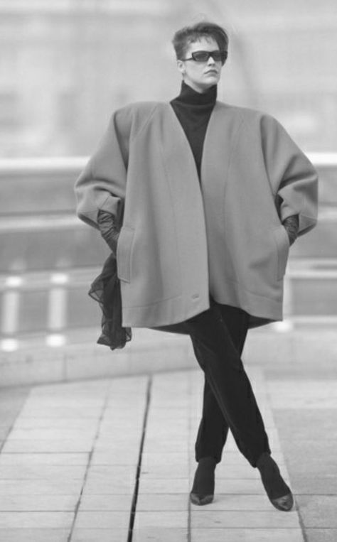 Look 1 - claude montana oversized coat fall 1984