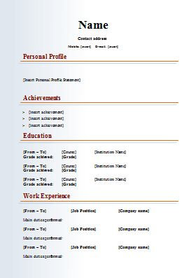 Latest C V Format Free Download Here S What People Are Saying About Latest C V Format Free D Resume Template Word Basic Resume Cv Template Word