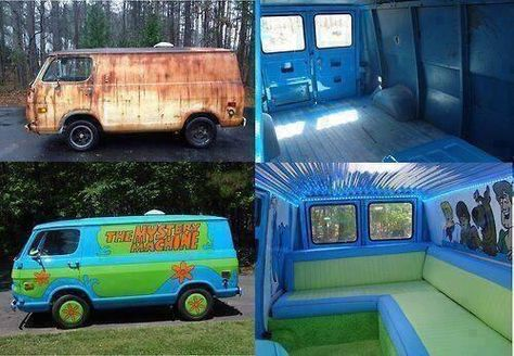 From Rusty to AWESOME! Now I want to go buy a rusty old van so I can have a cool Scooby Doo Mystery Machine van lol