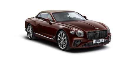 New Cricket Ball Red Continental Gt Convertible Front 3 Quarters With Roof Up On Bentley Continental Gt Bentley Continental Gt Convertible Bentley Continental