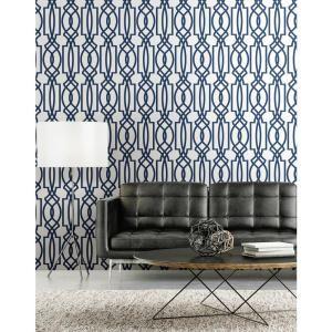 Nextwall Deco Lattice Vinyl Peelable Wallpaper Covers 30 75 Sq Ft Nw31502 The Home Depot Home Decor Home Peel And Stick Wallpaper