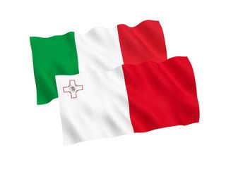 Flags Of Italy And Malta On A White Background Ad Italy Flags Malta Background White Ad Italy Flag White Background Malta
