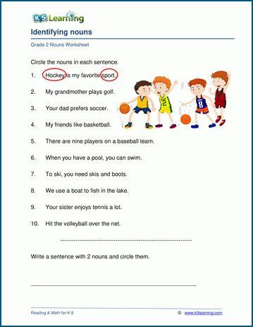 Grade 2 Nouns Worksheets K5 Learning Grammar Worksheets Nouns Worksheet Elementary Worksheets