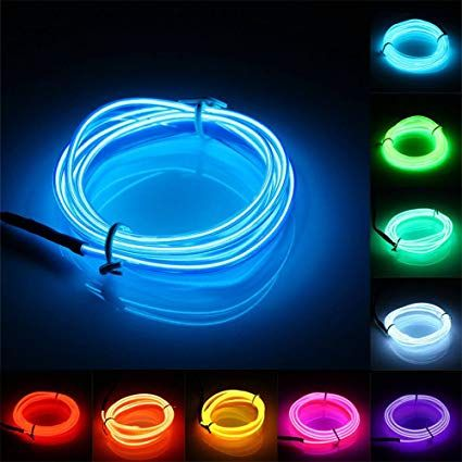 Jiguoor El Wire Super Bright Light Neon Tube Of 360 Degrees Of Illumination For Halloween Christmas Party Decorat Led Neon Lighting Led Lights Cheap Led Lights
