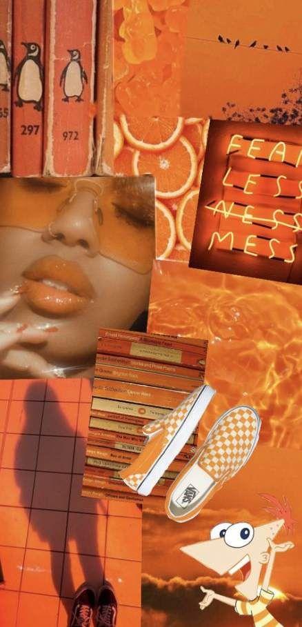 New Light Orange Aesthetic Wallpaper Ideas Orange Aesthetic Aesthetic Wallpapers Floral Wallpaper Iphone Iphone orange aesthetic wallpaper